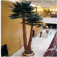 Decorative steel pipe artificial date palm tree, middle east fake date palm