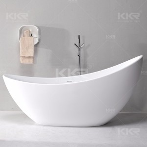Short bathtub/ acrylic solid surface stone bath/ customized size hot tub