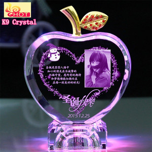 Luxury Unique Crystals 3D Laser Engraving For Arabic Wedding Favors