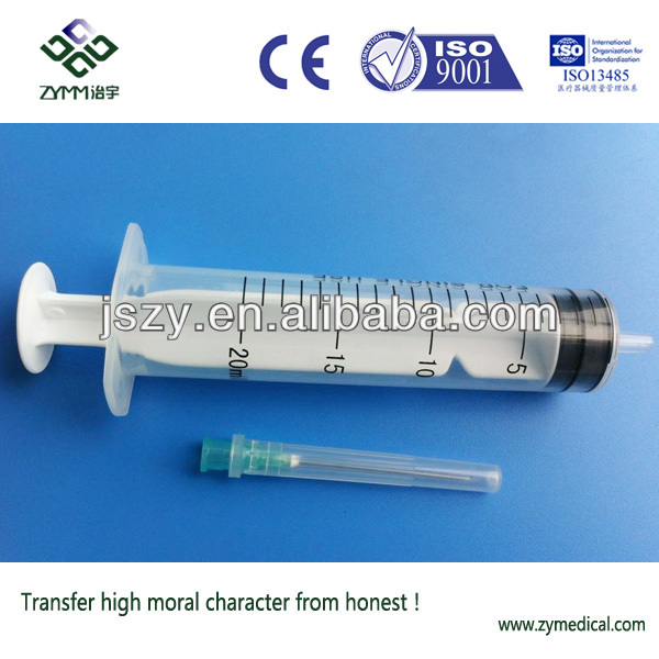20ml syringes with plastic tip