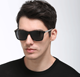 Sunflower Newest fashion aluminum matte black mirror polarized stickers mens sports sunglasses