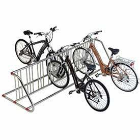 Global Industrial Grid Bike Rack, Double Sided, Powder Coated Galvanized Steel, 18-Bike Capacity