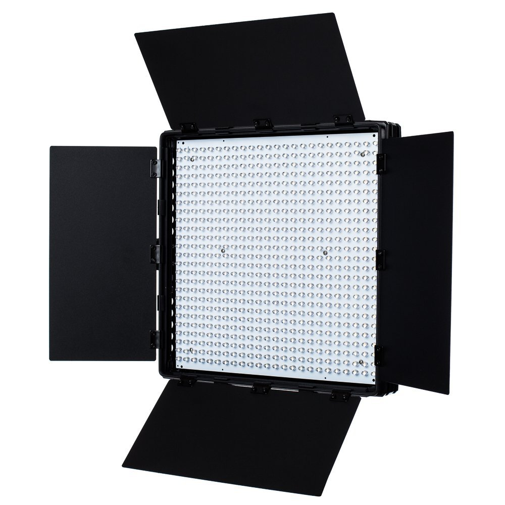Fovitec - 1x Daylight 600 XD LED Panel w/Barndoor, Filters & Bag - [95+ CRI][Continuous Lighting][Stepless Knobs][V-Lock Compatible][5600K ]