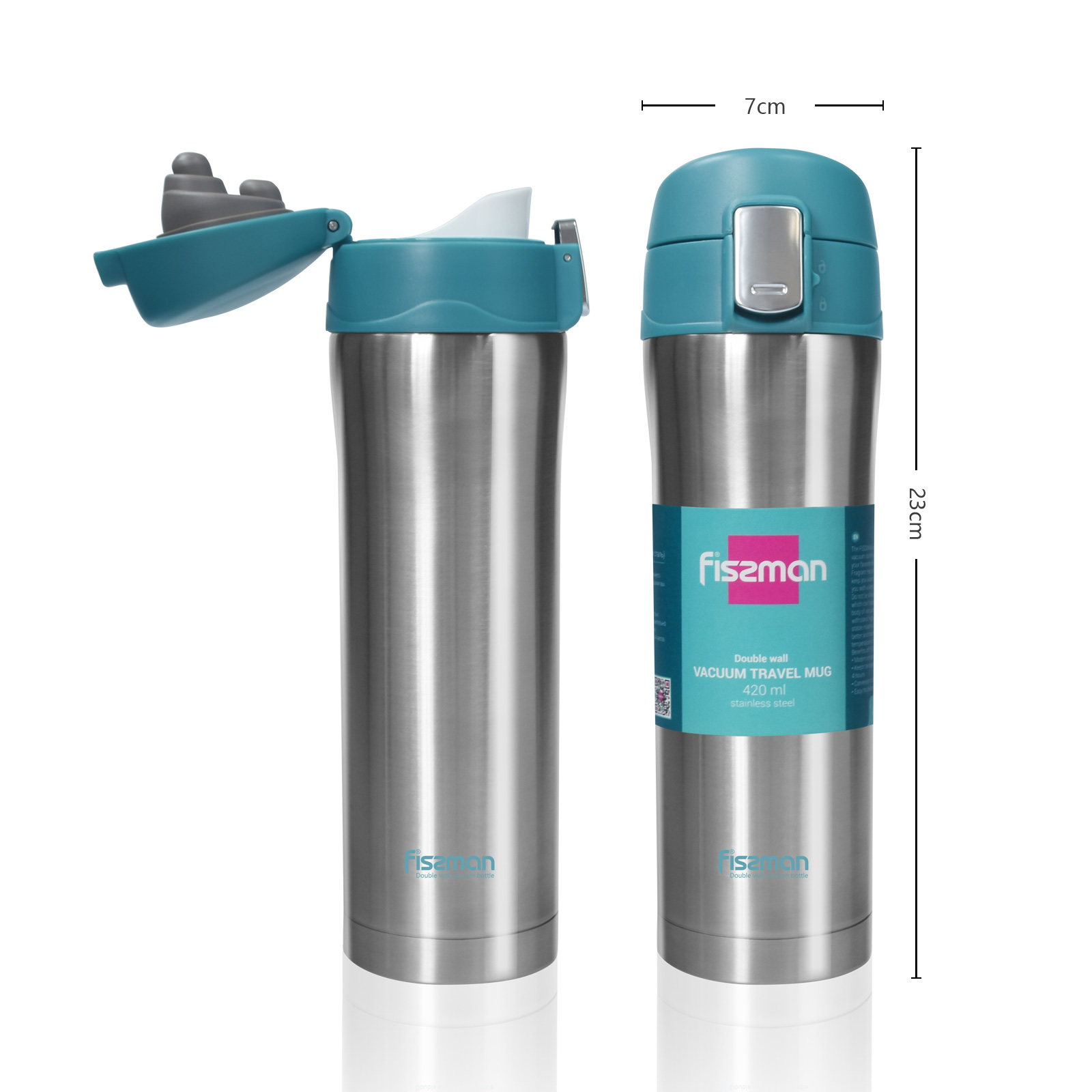 Fissman Fashion 420ML double wall Stainless Steel pretty Thermos vacuum flask
