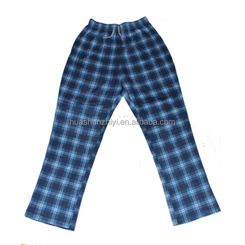 Boy Lounge plaid Pants and Men's plaid pajamas homewear bottoms