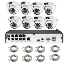 H.265 POE CCTV Sicherheit System 8CH 1080 P NVR Audio Record 2MP Outdoor PoE IP Kamera IR Nacht P2P Video überwachung Kit 2 TB HDD