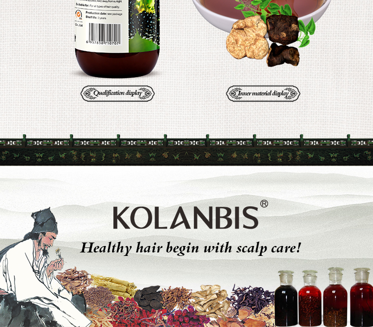 Black Hair Therapy Cure White Hair Magical Chinese Herbal Shampoo Increase Melanin No Side Effect
