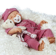 Fashion real silicone sleeping baby doll