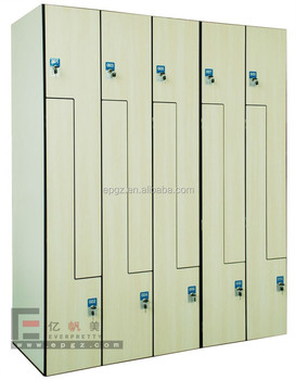 Used School Compact Locker For Chemical Reagent Storage Cabinet Swimming Pool Changing Room