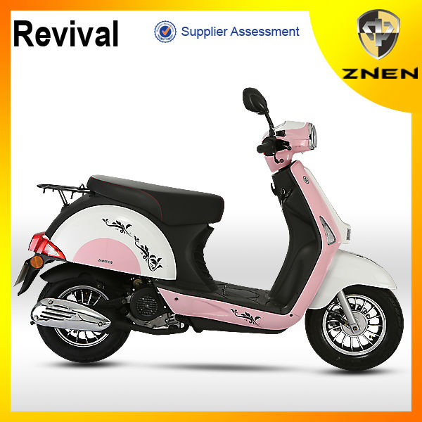 Znen 2015 Unique Design In China Moto/ Classic 4 Stroke Air Cooled Gas 50cc  Scooter