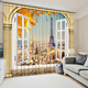 Luxury European Style Wholesale Hanging Door Beads 3D Printed Blue Blind Window Curtain