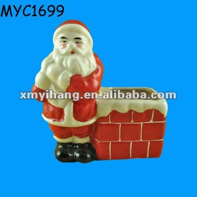 Santa clause Christmas decoration holiday supply toothpick container