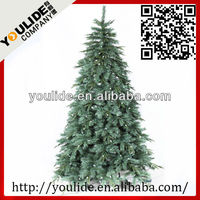 12' Just Cut Evergreen Spruce Pre Lit Pe Artificial Christmas Tree ...