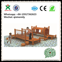 Wooden elegant park equipment combination for kids (QX-B2308)