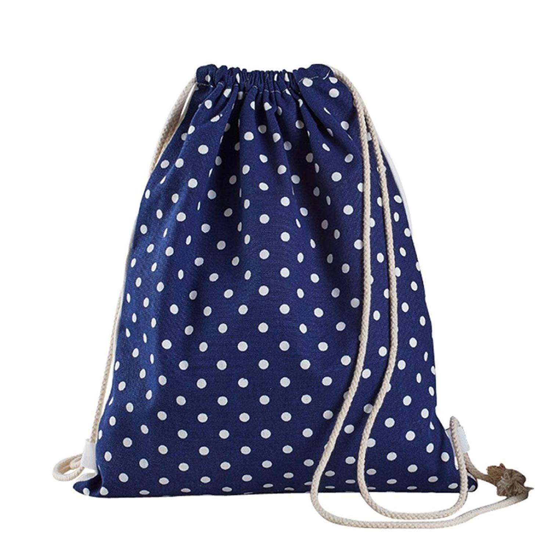 Women Printing Bucket Backpack Shoulder Bag Drawstring Backpack Shopping Bag Travel Bag Faionny