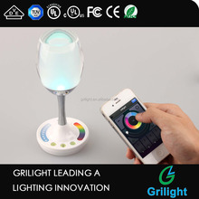 App iphone controlled 2w wine cup decoration light wifi smart micro usb led light charging bulb