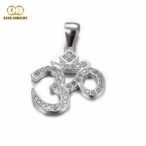 High Quality 925 sterling silver om pendant