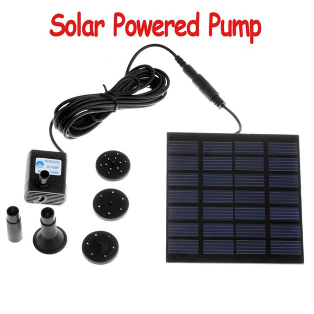 YOTHG 1.2W Solar Energy Fountain Pump, Mini Water Pump for Pond Fountain Rockery Fountain Garden Fountain, Micro Solar Energy Pump(110 x 110mm)