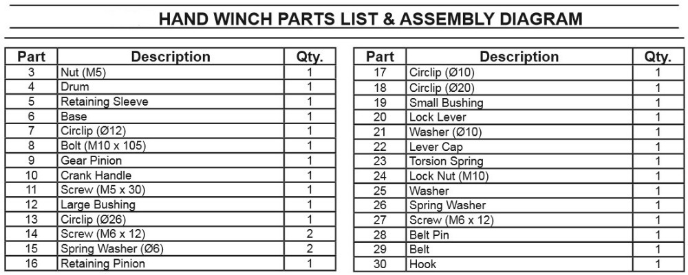 1200lbs Truck Manual Hand Winch With Strap Buy Truck Hand Winch