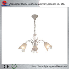 England white with brown glass flower pendant lamp