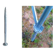 Hot dip galvanized steel ground screw for solar mounting
