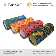 TOPKO popular camo color custom label high density hollow yoga foam roller
