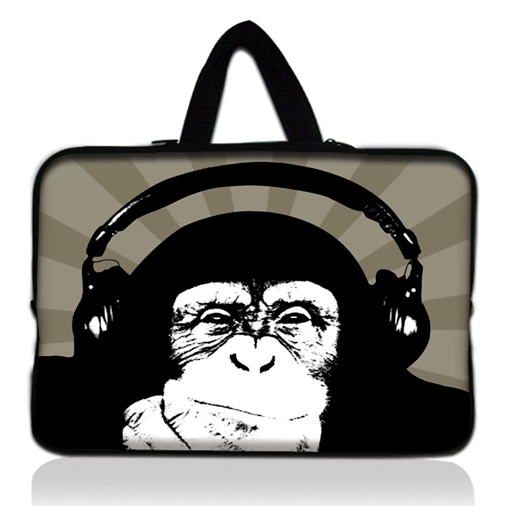 "Monkey 11.6"" 12.1 12 Inch Laptop Sleeve Bag Carry Case Cover +Hide Handle For 12"" 11.6"" inch Apple Macbook Air,12"" 11.6"" inch Apple Macbook Air,Acer Aspire S7/Samsung Google 11.6"" Chromebook PC,Dell Inspiron 11z 1110,12.1"" Apple iBOOK PC,DELL Latitude E6230 XT2 XPS Duo,Lenovo Ideapad,Sony IBM"