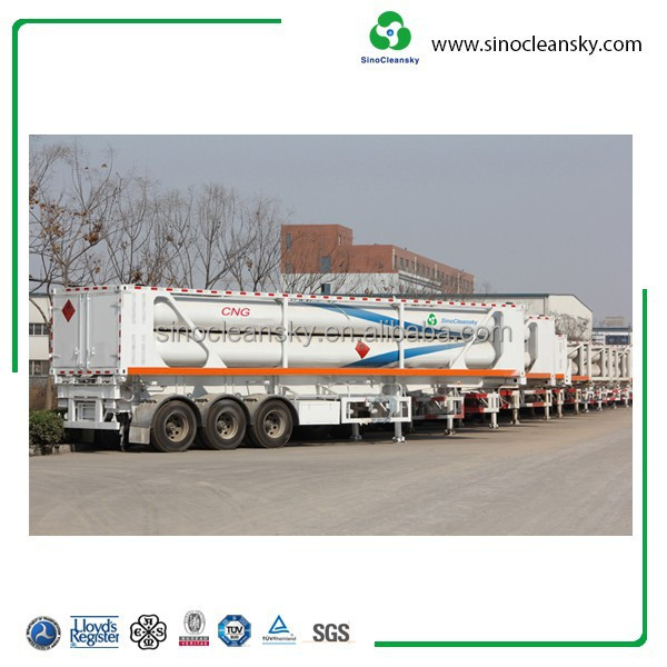 China Supplier CNG Tube Skid Trailer 8,9,10,11,12 Tubes with 25Mpa