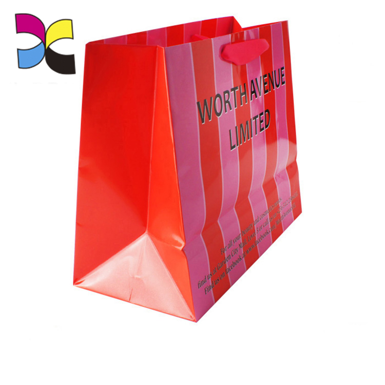 cheap price customized design recycle popular high quality durable wholesale paper shopping bag