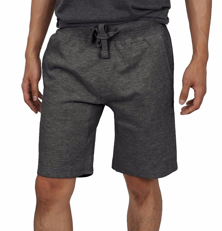 Enjoybuy Mens Elastic Waist Soft Jogger Shorts Sport Classic Fit Stretch Gym Shorts