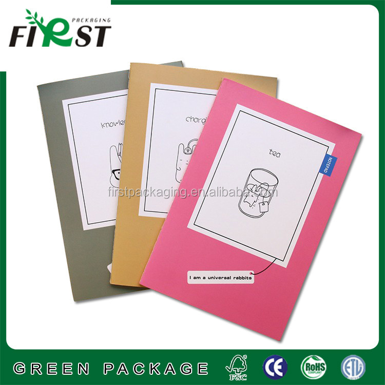novel white cardboard stitching binding blank notebook for scrawl logo and as custom/exercise notebook/printing notebook