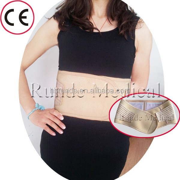 Tourmaline waist back support belt with plastic or steel stay
