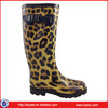 Hot Sale High Fashion Women Leopard Printed PVC Wellingtons