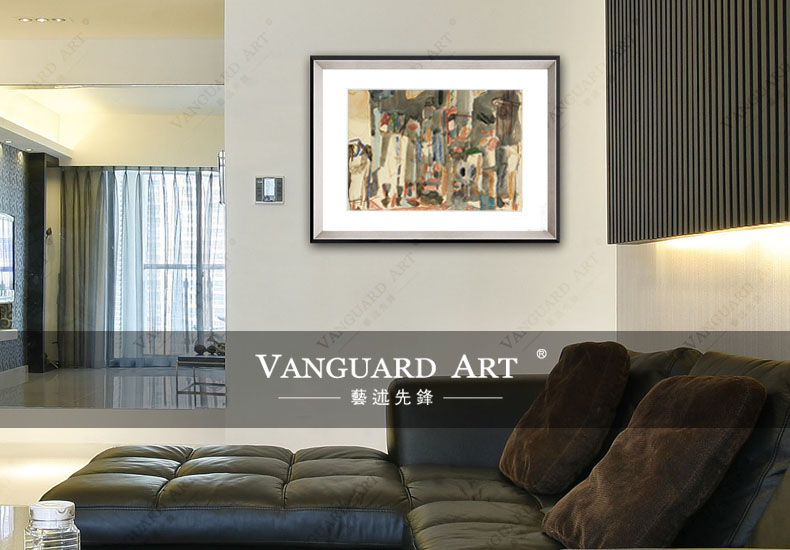 Abstract Paintings with Description of Painting for Bedroom