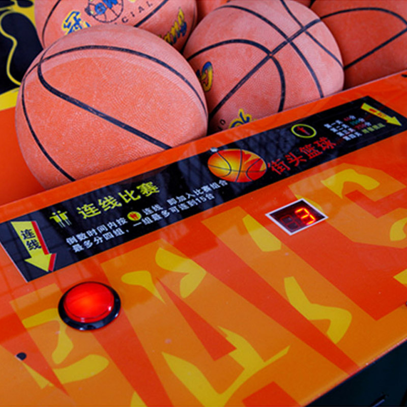 Qingfeng basketball shooting machine Indoor coin operated hot sale classic street basketball arcade game machine