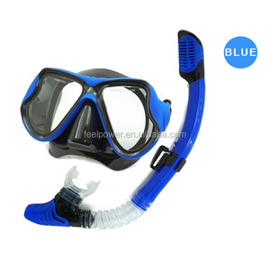 China Supply Tempered Glass Frameless Scuba Diving Mask Snorkel Wholesale