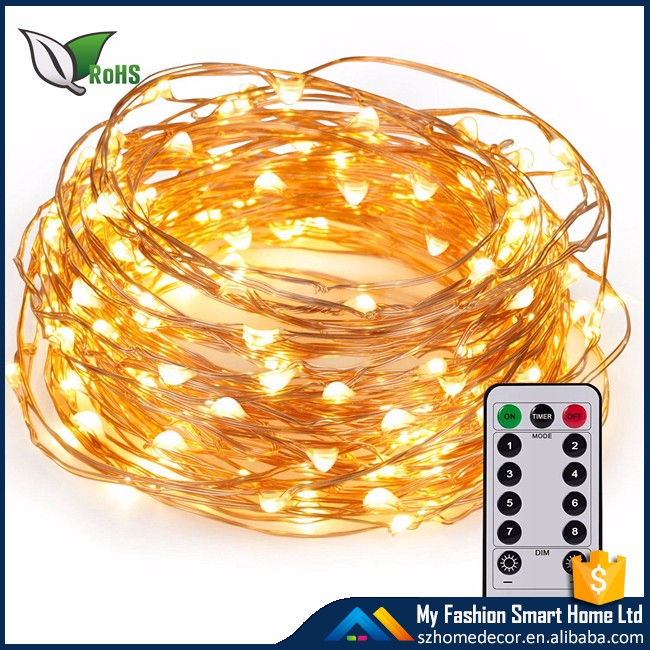 Kany Led String Lights Copper Wire Lights,100 Led 33 Ft Battery Operated Waterproof Starry String Lights,Decorative Rope Lights