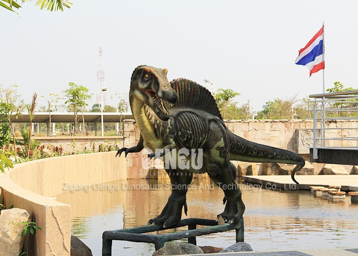 Outdoor Display Fiberglass Dinosaur Large Statue