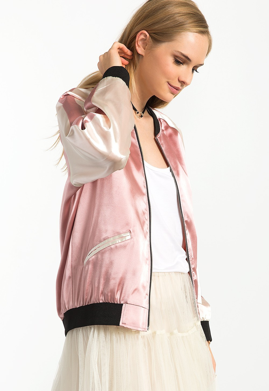 damen Bomberjacke Neueste Bestickt Kurzmantel Rosa Satin Hsc3021 Und Damen Frauen Jacke Buy Mantel damen Design Mantel Jacken Mäntel Beliebten SMzVpU