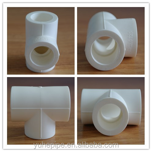 YUHE high quality ppr pipe fittings variety sizes reducing or equal Tee buy ppr pipe fittings
