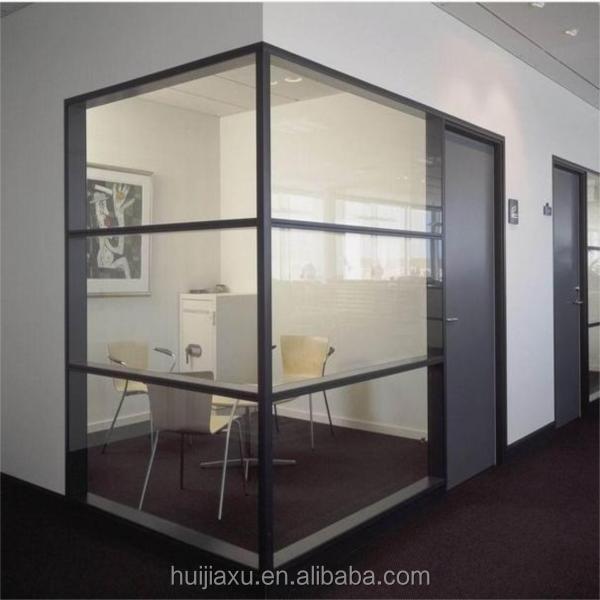 Frosted glazen scheidingswanden helder glas scheidingswand geluiddicht glas kantoor wand - Kantoor transparant glas ...