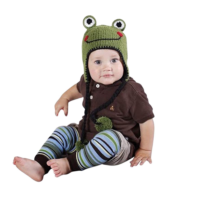 Melondipity Boys Green Tree Frog Baby Hat - Cutest Premium Animal Beanie 3e24f09c6d9c