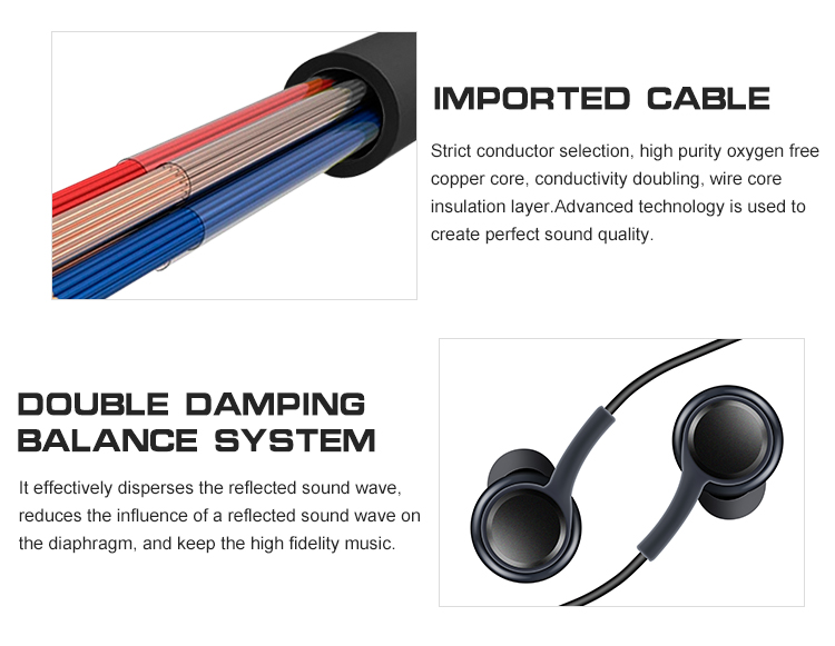 Custom Wired Foldable Earphones For Sumsung Original Earphone