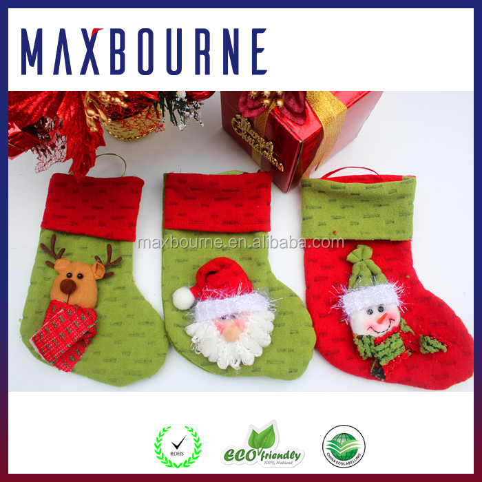Christmas decoration children's gift candy shoes santa hanging socks