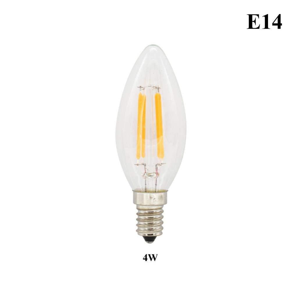Rumas LED Light Bulb - E14/E27 2-8W - Warm White 2700k - Filament Lamp for Home School Library (B)