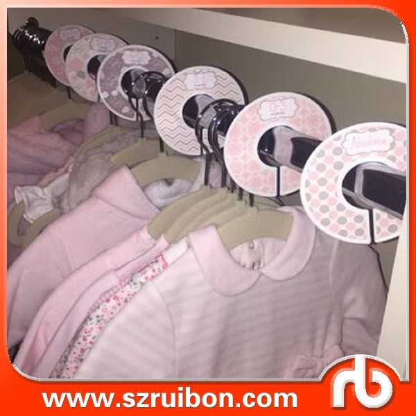 Baby clothing closet organizer baby closet divider sticker for Baby clothes size organizer