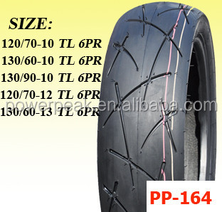 Tubeless Scooter Tire 120/70-10 130/60-10 130/90-10 120/70-12 130/60-13