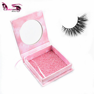 Custom logo printed cardboard magnetic false eyelashes packing box