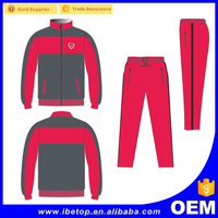 High quality custom tracksuit long sleeves 100% polyester women tracksuit
