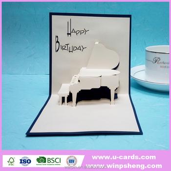 Custom Laser Happy Birthday Handmade Greeting Cardbirthday Card
